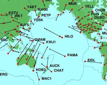Tektonik an der Pazifischen Platte. Quelle: Wikipedia