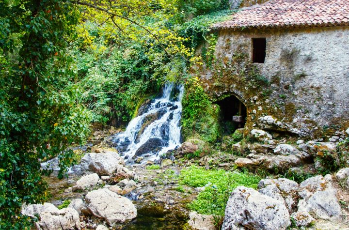 Ancient water mill in the natural reserve of Morigerati