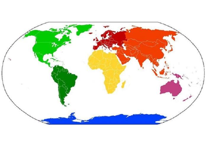 einfache Weltkarte