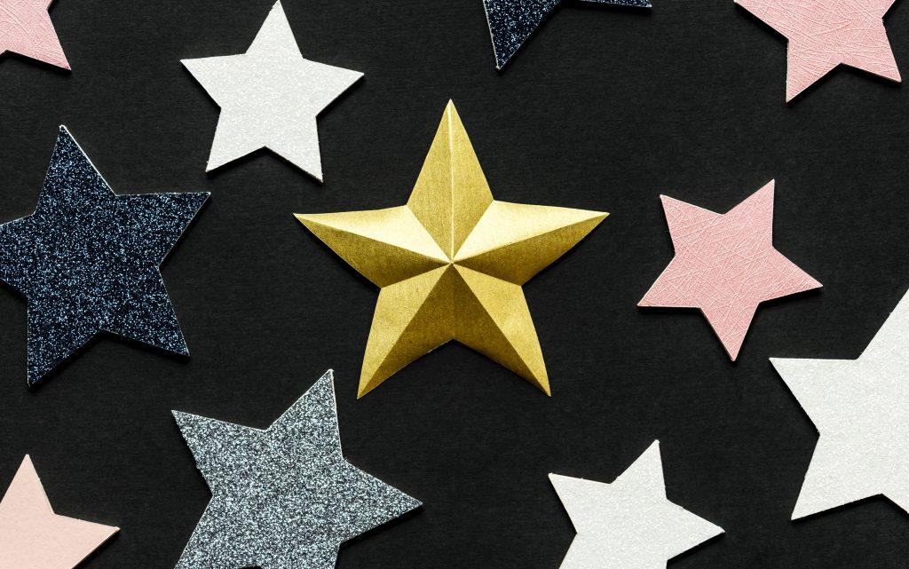 Sterne auf schwarzem Hintergrund