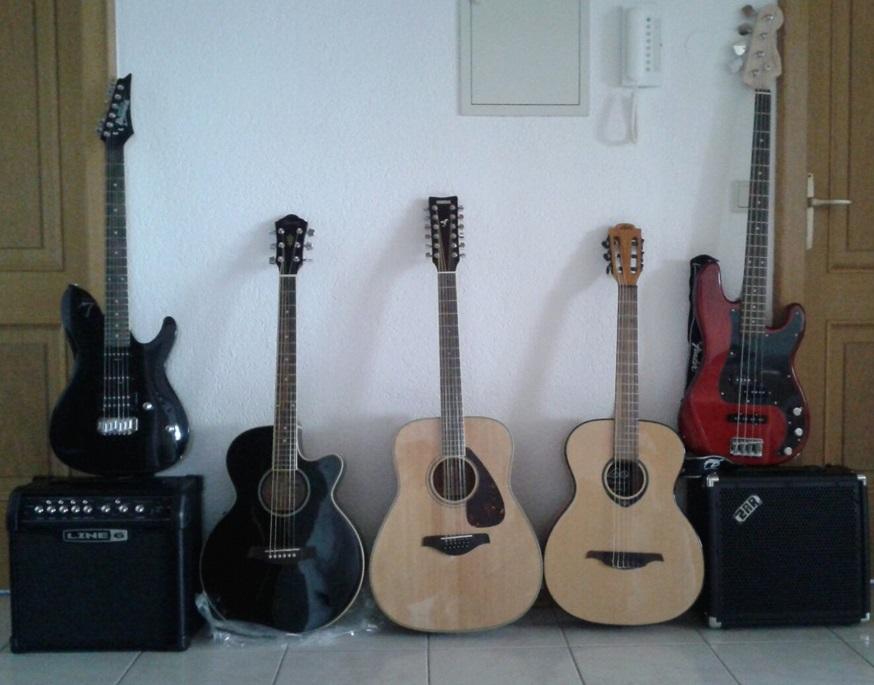 vier Gitarren